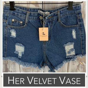 Denim Cutoff Shorts NWT by HerVelvetVase
